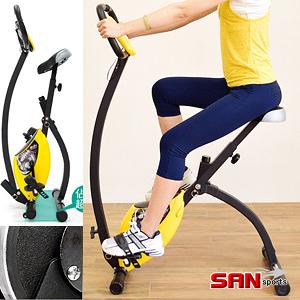 健身車│【SAN SPORTS】K次元BIKE飛輪式磁控健身車.室內摺疊健身腳踏車有氧美腿機.推薦特賣會
