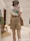 短褲女夏季薄款2021新款韓版工裝休閑高腰寬松五分褲百搭闊腿褲子 快速出貨