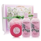 蕾莉歐 櫻花樹甜蜜禮盒[沐浴膠X2+植物皂100g+沐浴球]-公司貨
