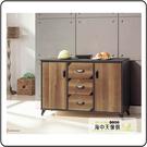 {{ 海中天休閒傢俱廣場 }} G-02 摩登時尚 餐櫃系列 347-2  鐵刀木4尺碗盤櫃(117含石)