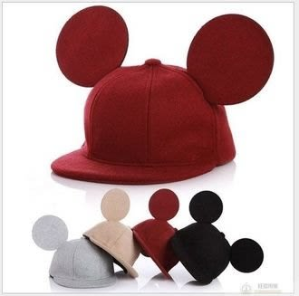 【米奇帽】米奇耳朵造型 保暖絨帽 造型帽 保暖帽 米奇帽 兒童帽子 米奇耳 迪士尼