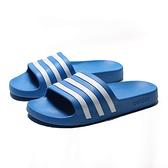 ADIDAS ADILETTE AQUA 寶藍 白 防水 海灘 運動 拖鞋 男女(布魯克林) 2019/5月 F35541