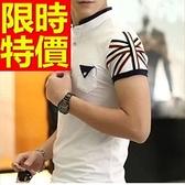 POLO衫短袖男裝上衣-俐落高檔必買焦點純棉質4色57p11【巴黎精品】