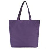 agnes b.素面尼龍&經典ab Heart兩面用購物袋(黑色/紫色)010080-20