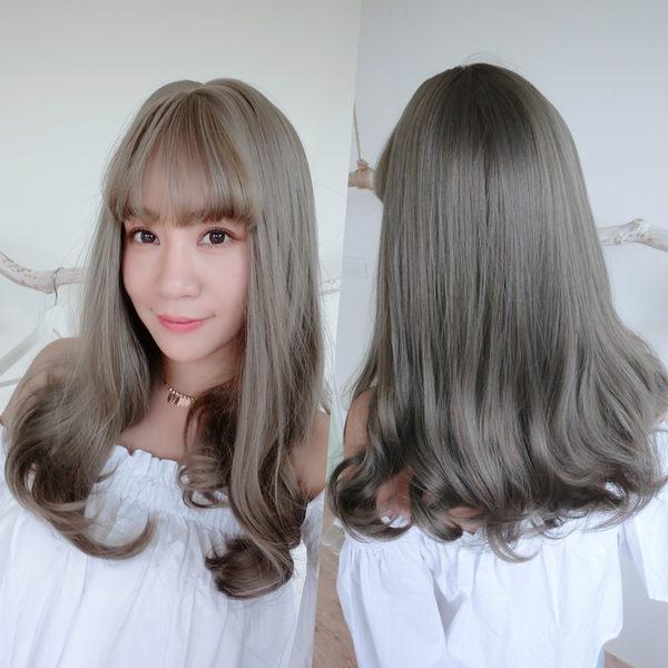 魔髮樂 全頂假髮 仿真大頭皮 灰色假髮 霧面髮絲 梨花捲度 C8173
