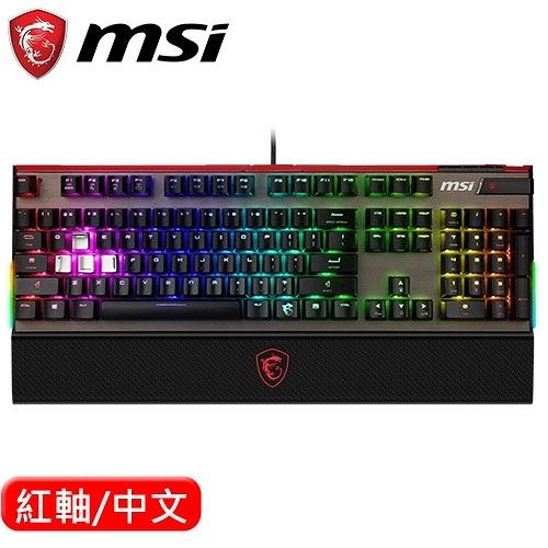 MSI 微星 Vigor GK80 RGB 機械電競鍵盤 Cherry MX 紅軸 中文
