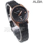 ALBA雅柏錶 都會城市風格 日期顯示窗 防水 藍寶石水晶玻璃 不銹鋼 IP黑電鍍 女錶 AH7V42X1 VJ22-X323SD