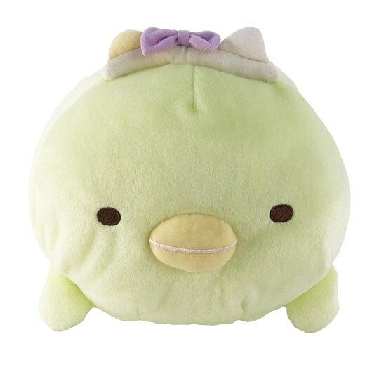 小禮堂 角落生物 企鵝 造型絨毛抱枕 絨毛靠枕 絨毛玩偶 午睡枕 (綠 造型帽) 5983164-11785