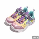 SKECHERS 童 慢跑鞋 UNICORN DREAMS 透明 大底 輕量 獨角獸 燈泡-302311LPRMT