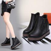 33-34 小碼女鞋 內增高2017新款松糕厚底10cm高跟短靴大碼41