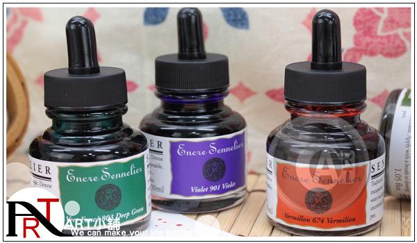 『ART小舖』法國SENNELIER申內利爾大師級墨水30ml 全色系30色/油墨稀釋劑 單瓶