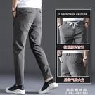 冰絲休閒褲子男士超薄款2020夏季新款寬鬆直筒鬆緊腰抽繩空調夏褲【果果新品】