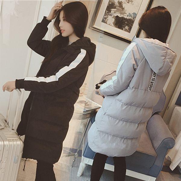 鋪棉外套棉衣女中長版韓版羽絨棉襖寬松冬季棉服時尚初中學生外套