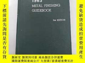 二手書博民逛書店1963罕見metal finishing guidebook(