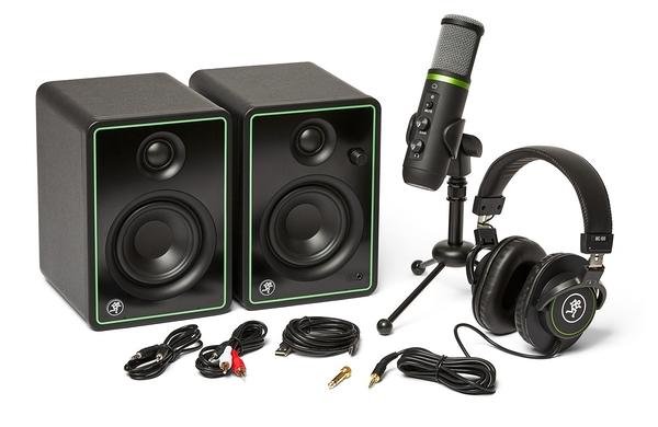 【音響世界】美國Mackie Creator Bundle創作錄音套組-含CR3-X喇叭+EM USB麥克風+MC100耳機