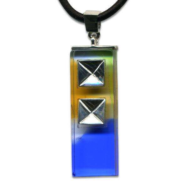 鹿港窯~開運古法水晶琉璃銀飾項鍊~亞當 附精美包裝◆免運費送到家