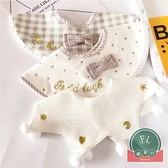 寶寶純棉口水巾日系小清新嬰兒圍兜兒童假領子【聚可爱】