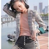 學生元素格紋配色袖口外套[20S110-PF]美之札