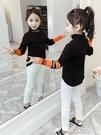 女童上衣T恤 女童打底衫裝新款韓版洋氣兒童高領T恤長袖小女孩加厚上衣 快速出货