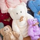小熊造型珊瑚絨浴巾+毛巾套組.萌萌豬生活館