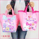 《45週年限量版》Hello Kitty 凱蒂貓 正版 兒童 卡通 船型手拿便當袋 野餐袋  B19110