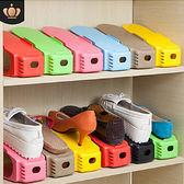 【20入組】創意加厚三段式馬卡龍彩色收納鞋架