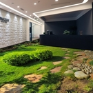 3D立體地貼 3d立體裝飾地貼草地花園墻磚貼小路玄關延伸創意地貼防水防滑TW【快速出貨八折鉅惠】