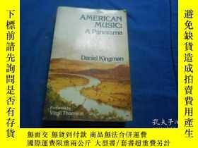 二手書博民逛書店AMERICANMUSIC罕見A Panorama Daniel Kingman(不認識外文,書名、出版社等以圖片