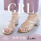 BONJOUR日本GRL方頭6cm細帶粗跟涼鞋【ZGD-1191】(13色)