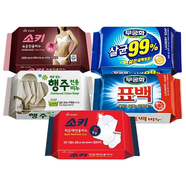 韓國 無瓊花 抗菌洗衣皂/女性內衣褲去污皂/衣襪去污皂/抹布去油汙皂/漂白皂【小三美日】