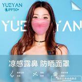 冰絲防曬口罩露鼻薄款女夏季防紫外線透氣可清洗遮陽遮臉面罩『韓女王』