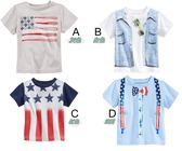 上衣 短T 棉質 舒適 透氣 美式風格 短袖T恤  四款 寶貝童衣