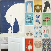 【小銅板】動物系列門簾風水簾(多款可選)白熊與兔