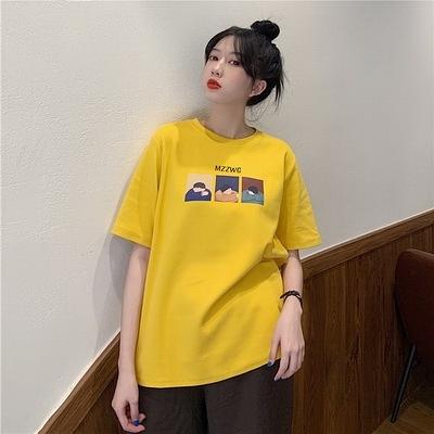 (下殺)彈性棉市場價短袖T恤印花【08SG06637】
