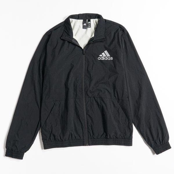 adidas 系列服飾 M ID WIND TT 男款保暖立領風衣外套  刷毛-NO.CY9880