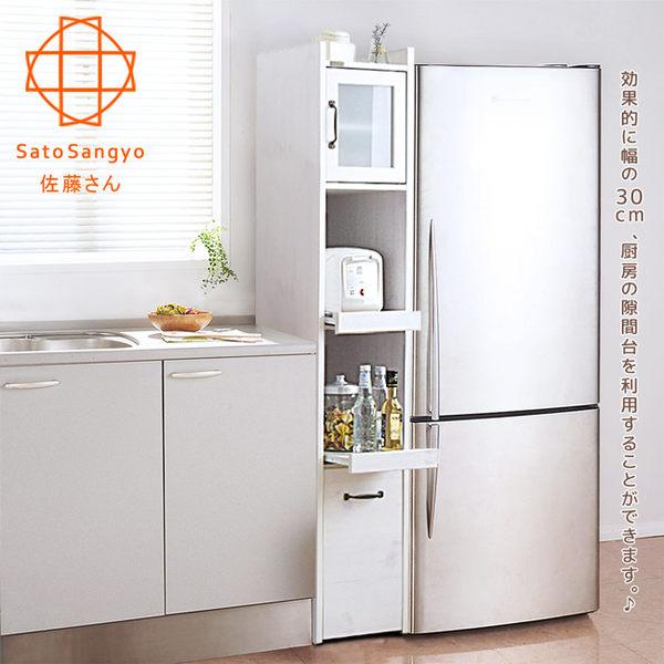 【Sato】SESAME香草森活電器隙縫收納櫃‧幅30cm