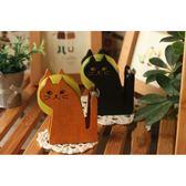 日系雜貨風 貓咪膠帶台 木質 膠帶 貓【A382】