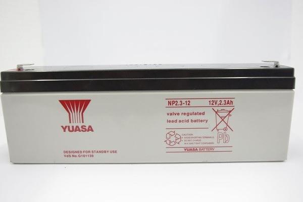 全館免運費【電池天地】湯淺鉛酸蓄電池NP2.3-12 12V,2.3Ah