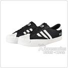 Adidas Y-3 YOHJI STAR白字LOGO牛皮低筒運動鞋(黑x白條紋)