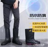 防水雨靴水鞋男雨靴高筒防水中筒雨鞋時尚防滑雨靴廚房水靴套鞋膠鞋潮 交換禮物