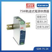 明緯 75W單路輸出工業(SDR-75-24)