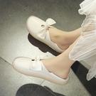 娃娃鞋 平底單鞋女春兩穿小白鞋女淺口護士...