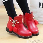 女童短靴 女童靴子秋冬季短靴中大童馬丁靴公主單靴女寶寶皮靴馬靴寶貝計畫