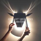 北歐後現代臥室客廳床頭燈走廊過道燈美式簡約創意藝術麋鹿角壁燈