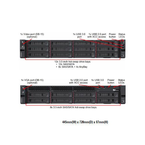 Lenovo SR650 7X06A05QCN 2U機架式伺服器【Intel Xeon Silver 4110 8C / 16GB / Raid 930-16i + 4G Flash】(3.5吋)