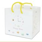 歡樂時光紙袋 兩種規格 置物袋 甜點袋 紙袋 西點袋 伴手禮袋 提袋 紙盒袋 環保袋【D202】
