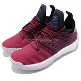 adidas 籃球鞋 Harden Vol.2 紅 紫 漸層 BOOST中底 哈登 男鞋 【PUMP306】 AH2124