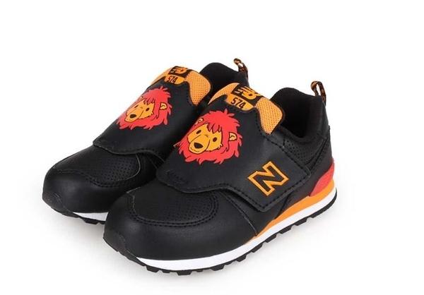 New Balance 男女黑橘色獅子小童鞋-NO.IV574ZOL