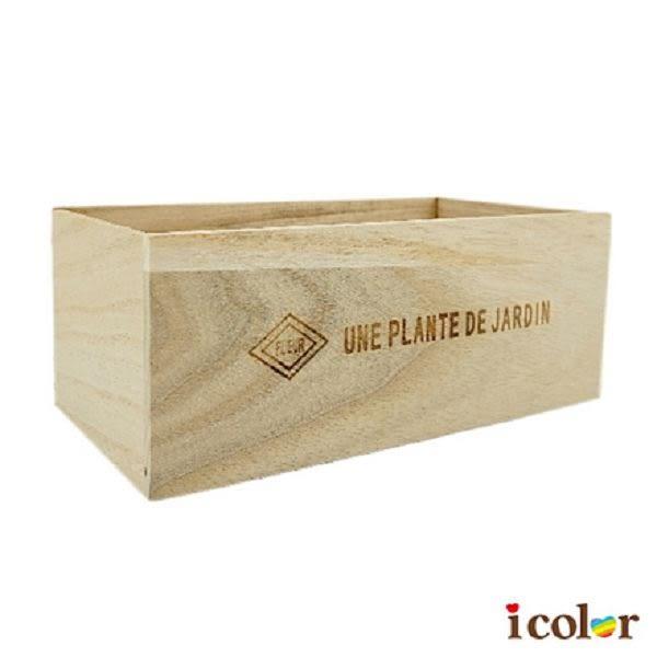 icolor 園藝盆栽收納木盒