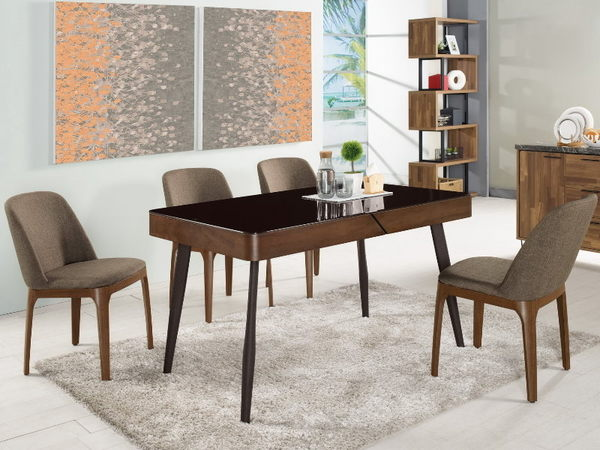 餐桌 MK-439-1 蓋文4.5尺玻璃餐桌 (不含椅子)【大眾家居舘】